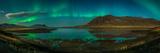 Auroras over Hraunsfjordur fjord, The lava fjord, Snaefellsnes peninsula, Iceland