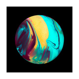 Marble Ball Watercolor Sphere