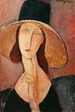 Portrait of a Woman (Jeanne Hebuterne) in Large Hat, c.1918