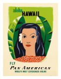 Aloha Hawaii, Fly Pan American Airways, c.1953