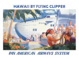 Hawaii by Flying Clipper, Pan American Airways System
