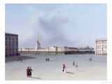 The Admiralty from the Winter Palace, Russian School (Early 19th Century)