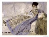 Madame Monet on a Sofa, circa 1874