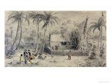 Native Village in Tahiti, circa 1841-48