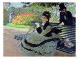 Madame Monet on a Garden Bench