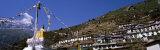 Low Angle View of Terraced Housing on a Mountain, Namche Bazaar, Sagarmatha National Park, Nepal