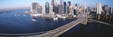 Aerial View of Brooklyn Bridge, Lower Manhattan, New York City, New York State, USA