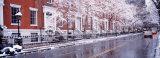 Winter, Snow in Washington Square, New York City, New York State, USA