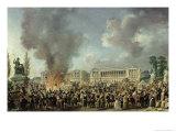 Celebration of Unity, Destroying the Emblems of Monarchy, Place de La Concorde, 10th August 1793