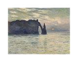 The Cliff, Etretat, Sunset, 1883