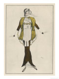 Hobble Skirt Costume Designed and Drawn by Bakst and Made by Paquin
