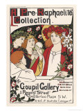 Poster for an Exhibition of Pre-Raphaelite Art at the Goupil Gallery London