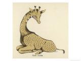 Giraffe Sitting Down