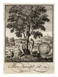 Adam and Eve Take the Apple Offered by the Serpent