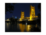 The Tower Bridge of Sacramento at Night, CA