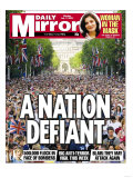 A Nation Defiant. 500,000 Flock in Face of Bombers