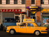 New Yellow Taxi in the Street, Moscow, Russia