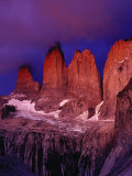 The Torres Del Paine (Towers of Paine) in Moonlight, Patagonia,Chile