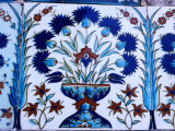 Decorative Tiles in Topkapi Palace, Istanbul, Turkey