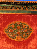 Decorative Motif on Wall in Forbidden City Bejing, China