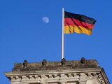 German National Flag Flying Over Reichstag, Berlin, Germany