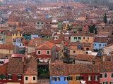 Burano Rooftops from the Belltower, Venice, Burano, Veneto, Italy