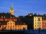 Storkyrkan and Gamla Stan Seen from Riddarholmen Island, Stockholm, Sweden