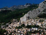 Hillside Town with Mountain in Background Chieti, Abruzzo, Italy
