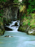 Glacial Stream Through Rocky Walls, Torres Del Paine National Park, Chile