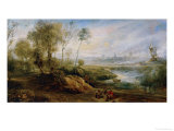 Landscape with Birdcatcher