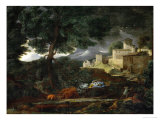 Landscape with a Tree Hit by Lightning, 1651