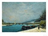 The Seine Near the Pont De Jena, Snow