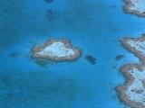 Aerial View of the Heart Reef, Hardy Reef, Great Barrier Reef, Queensland, Australia