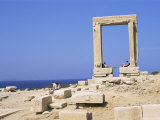 Remains of the Temple of Apollo, Near Naxos Town, Island of Naxos, Cyclades, Greece