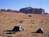 Looking South to Jebel Khazali, from Abu Aineh, South of Rum Village, Wadi Rum, Jordan, Middle East