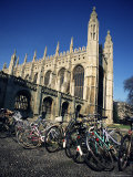 Bicycles in Front of King's College, Cambridge, Cambridgeshire, England, United Kingdom