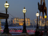 Embankment with Dali Sculpture at Dusk, London, England, United Kingdom