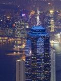 Central Skyscrapers at Night, Hong Kong, China