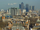 Skylines with Canary Wharf and Offices, London, England, United Kingdom