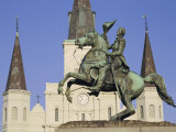 Jackson Square, St. Louis Cathedral, New Orleans, Louisiana, USA