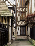 Timber-Framed Houses in a Narrow Alleyway, Rouen, Haute Normandie (Normandy), France