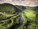 River Aveyron Near St. Antonin Noble Val, Midi Pyrenees, France