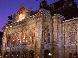 The Opera at Night, Vienna, Austria
