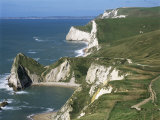 Coast Near Lulworth, Dorset, England, United Kingdom