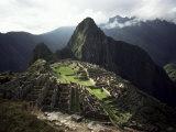 Inca Site, Machu Picchu, Unesco World Heritage Site, Peru, South America