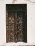 Carved Wooden Door, Old Town, Mombasa, Kenya, East Africa, Africa