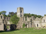 Fountains Abbey, Unesco World Heritage Site, Yorkshire, England, United Kingdom