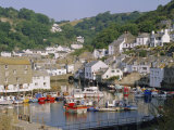 The Harbour and Village, Polperro, Cornwall, England, UK