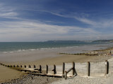 Wooden Groyne on the Beach at Amroth, Pembrokeshire, Wales, United Kingdom