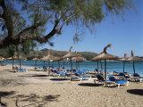Beach, Port De Pollenca, Majorca, Balearic Islands, Spain, Mediterranean